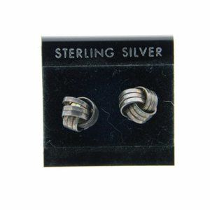 NOS Sterling Silver Love Knot Post Earrings